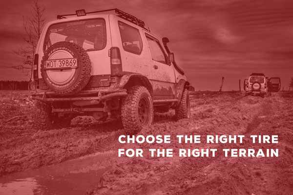 Choose the right tire for the right terrain