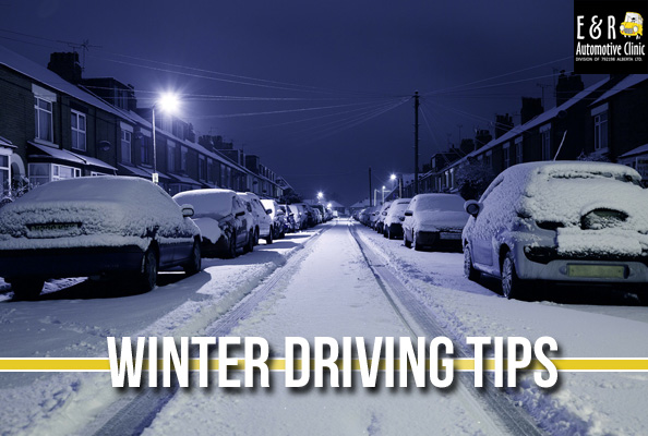 Winter driving tips from E & R Automotive Clinic in Nisku, Alberta.