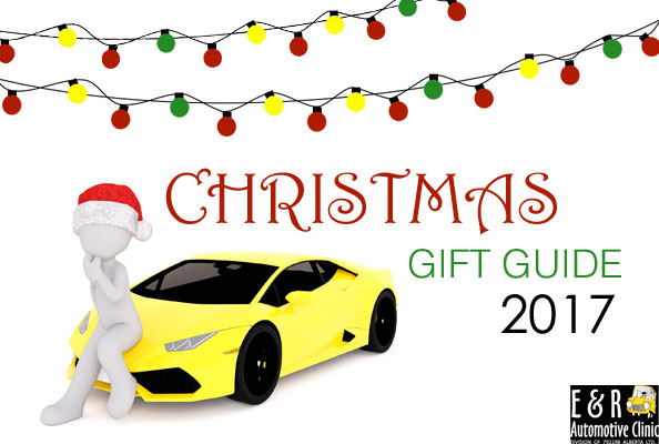 A stick figure ponders the  E & R Automotive 2017 Gift Guide